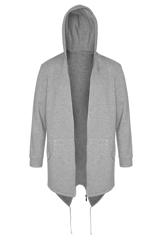 light grey warm hoodie on white background