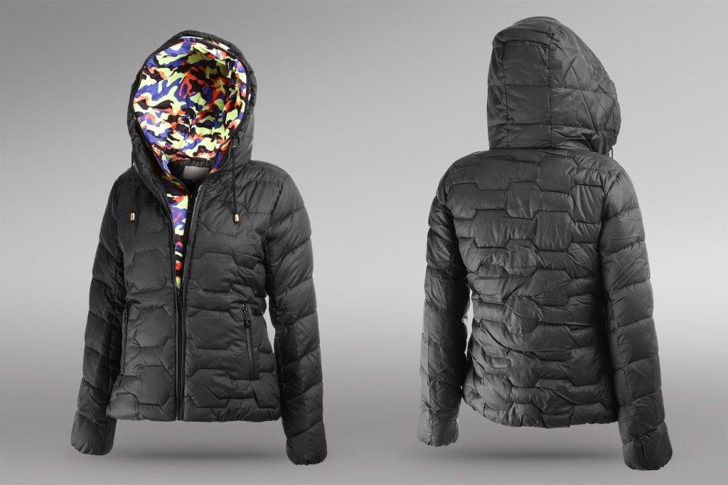 woman's jacket isolated on grey background