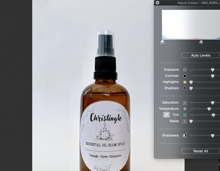How to take great product photographs in your own home with no professional equipment.